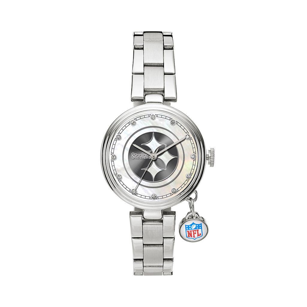 Sparo Charm Watch - Women's Pittsburgh Steelers Stainless Steel