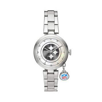 Sparo Charm Watch - Women's Pittsburgh Steelers Stainless Steel