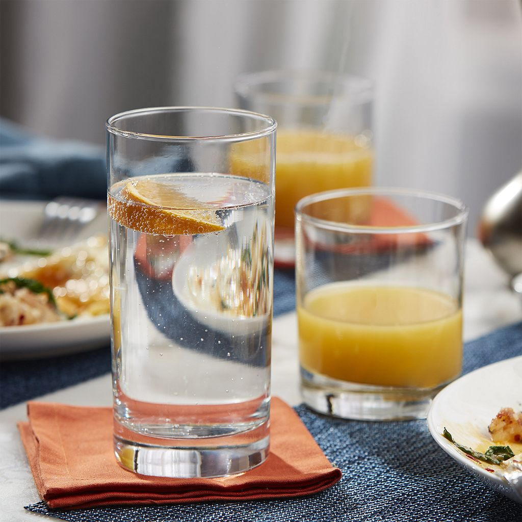Food Network™ 16-pc. Slim Glassware Set