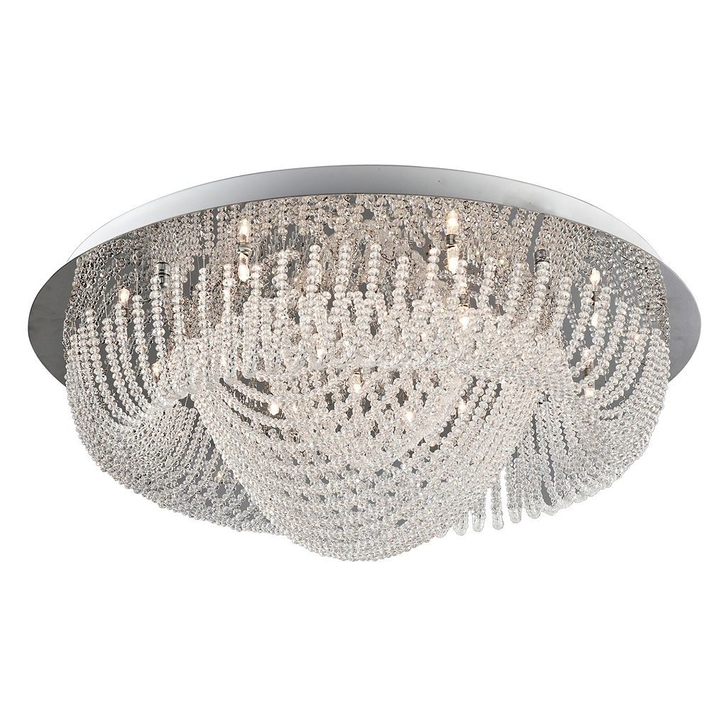 Lite Source Inc. Orella Flush Chandelier Mount Ceiling Light