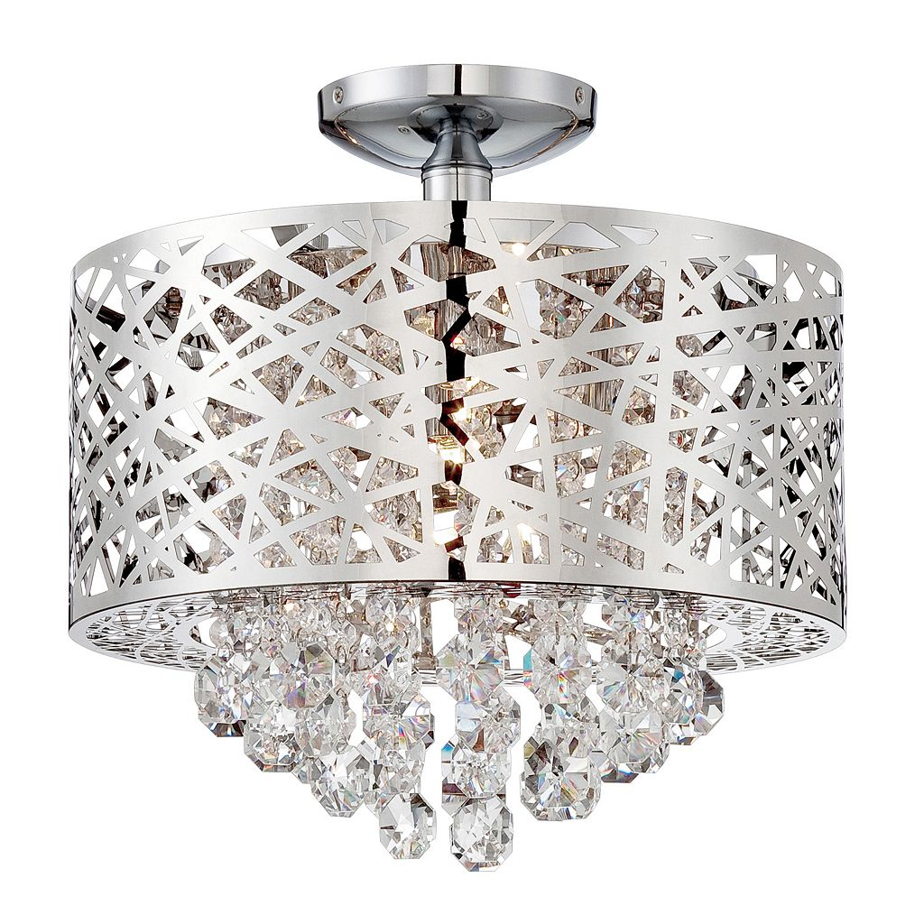 Lite Source Inc. Benedetta Semi-Flush Mount Ceiling Light