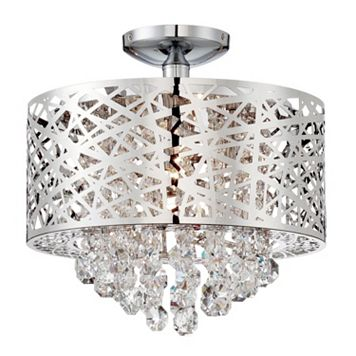 Lite Source Inc. Benedetta Semi-Flush Mount Ceiling Light