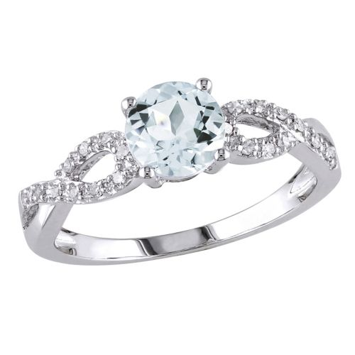 & Diamond Accent Infinity Engagement Ring in 10k White Gold