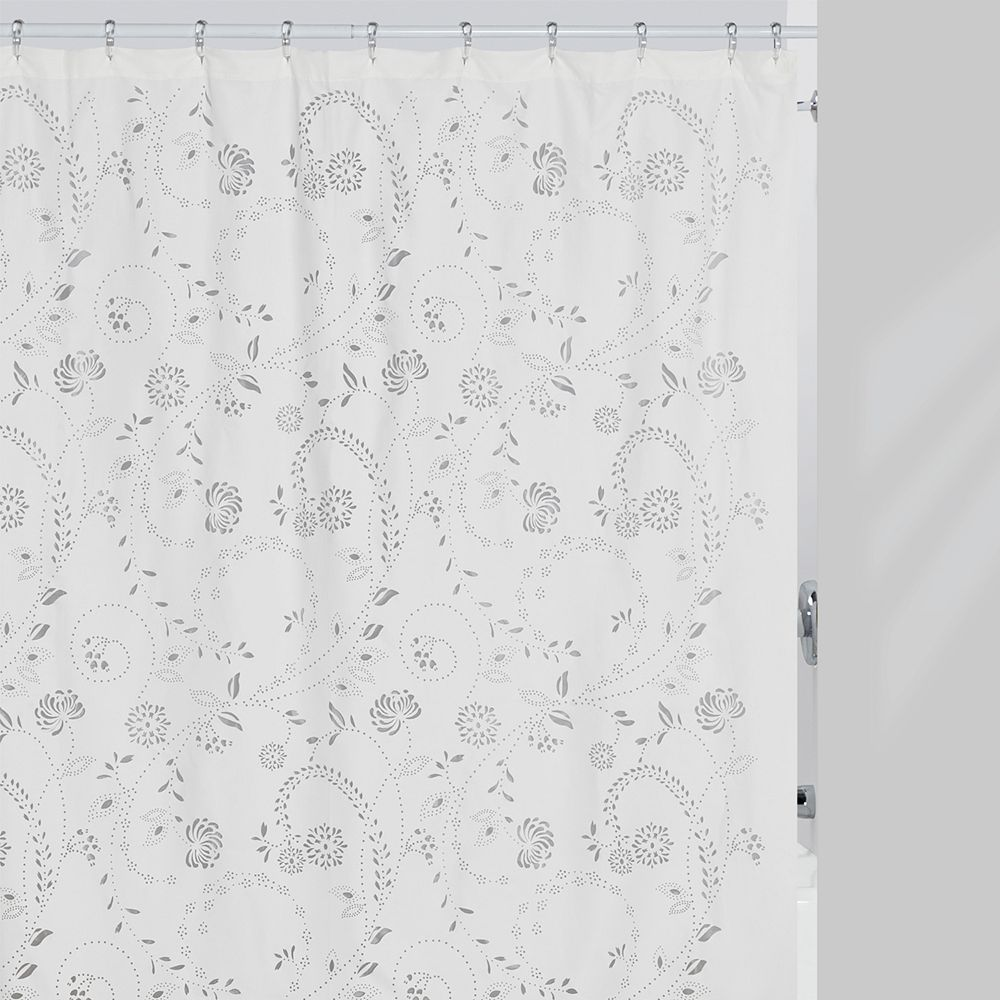 Bath Eyelet Fabric Shower Curtain