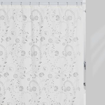 Creative Bath Eyelet Fabric Shower Curtain