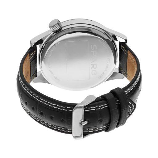 Sparo Watch - Men's Icon Wisconsin Badgers Leather