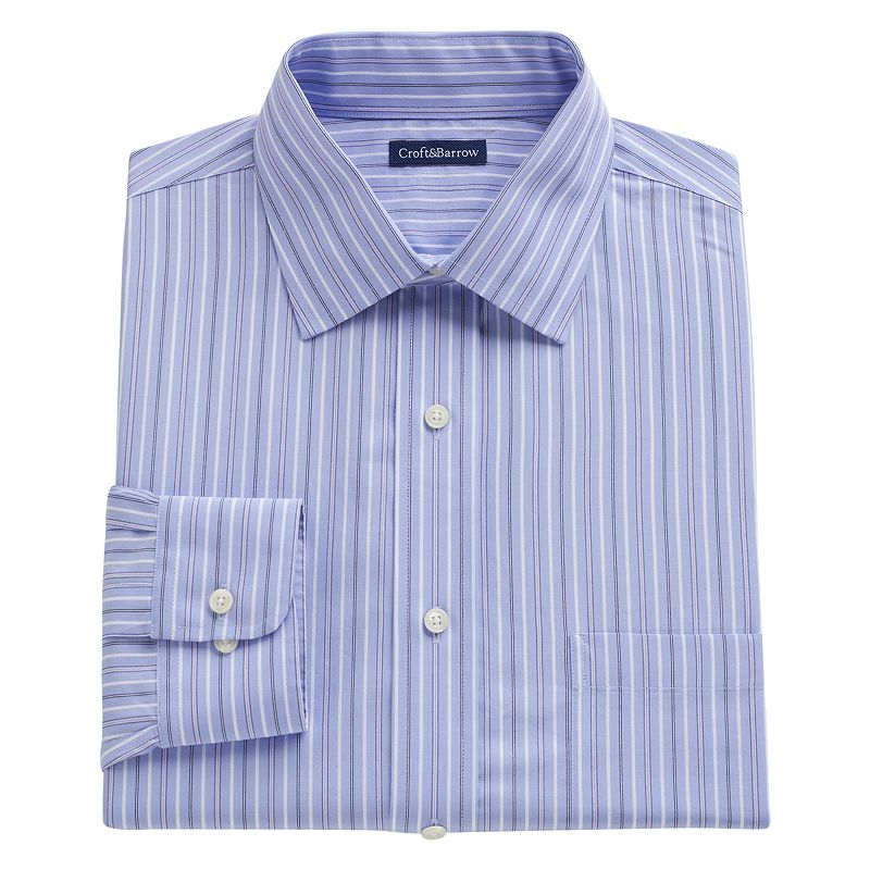 Striped pocket dress shirt kohl 39 s for Dress shirt no pocket