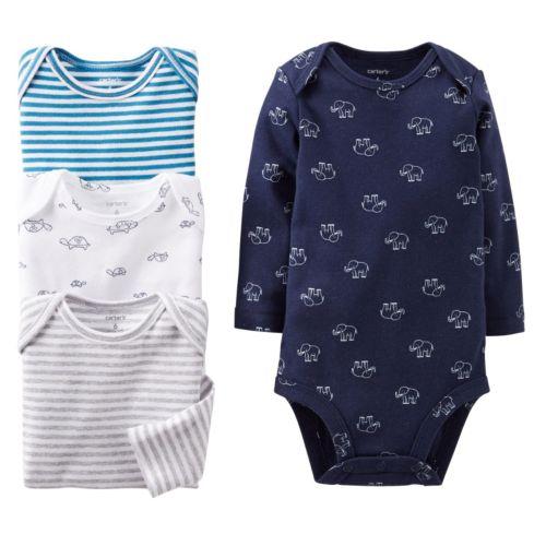 Carter's 4-pk. Striped & Animal Bodysuits - Baby