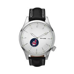 Sparo Watch - Men's Icon Cleveland Indians Leather