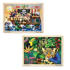 Melissa & Doug 2-pk. Pirate & Jungle Puzzles