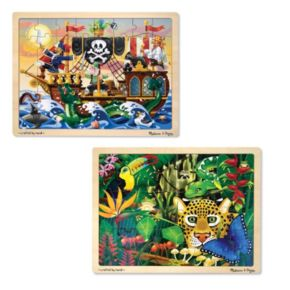 Melissa and Doug 2-pk. Pirate and Jungle Puzzles