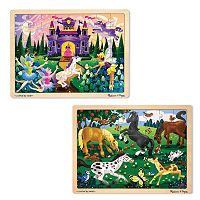 Melissa & Doug 2 pkPrincess & Pony Puzzles