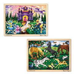 Melissa & Doug 2 pkPrincess & Pony Puzzles