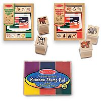 Melissa & Doug Baby Zoo & Farm Animals Stamp Pad Set