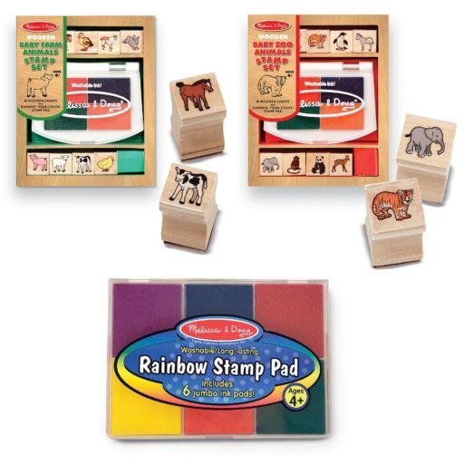 Melissa and Doug Baby Zoo and Farm Animals Stamp Pad Set