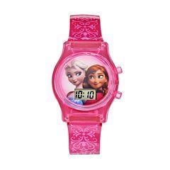 Disney Frozen Elsa & Anna Kids' Digital Light-Up Watch
