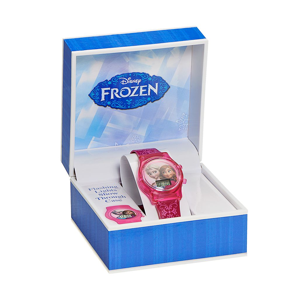 Disney Frozen Elsa and Anna Kids' Digital Light-Up Watch