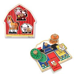 Melissa & Doug 2 pkJumbo Knob Puzzles