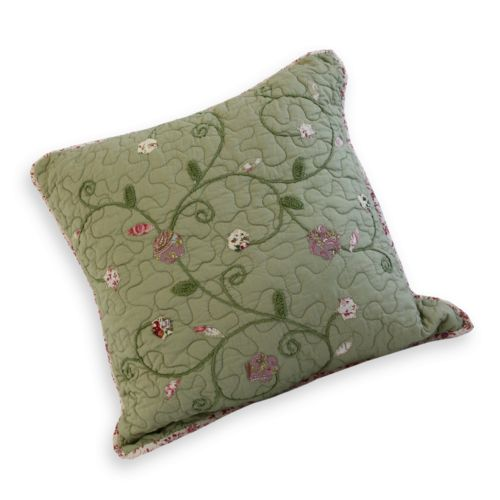 Always Home Victorian Crochet Embroidered Decorative Pillow