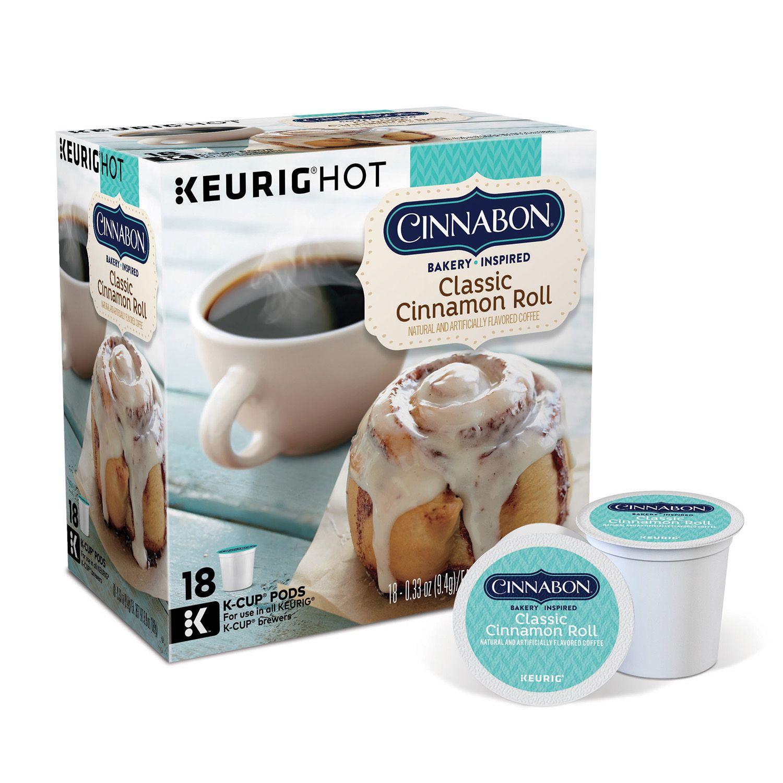keurig kcup cinnabon classic cinnamon roll light roast coffee pod 18pk - Keurig K Cups