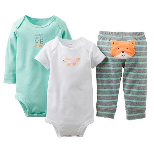 Carter's 3-pc. Fox Bodysuit Set - Baby