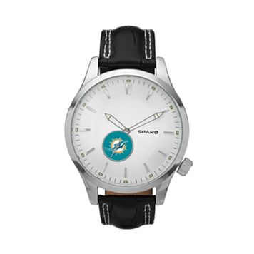 Sparo Watch - Men's Icon Miami Dolphins Leather