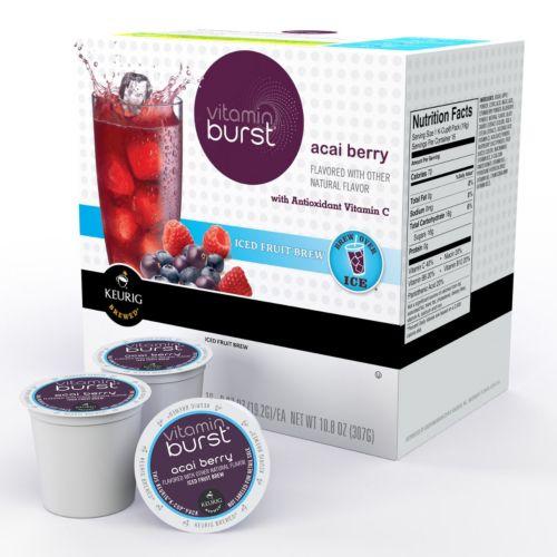 Keurig K-Cup Vitamin Burst Acai Berry Iced Fruit Brew Portion Pack 16-pk.