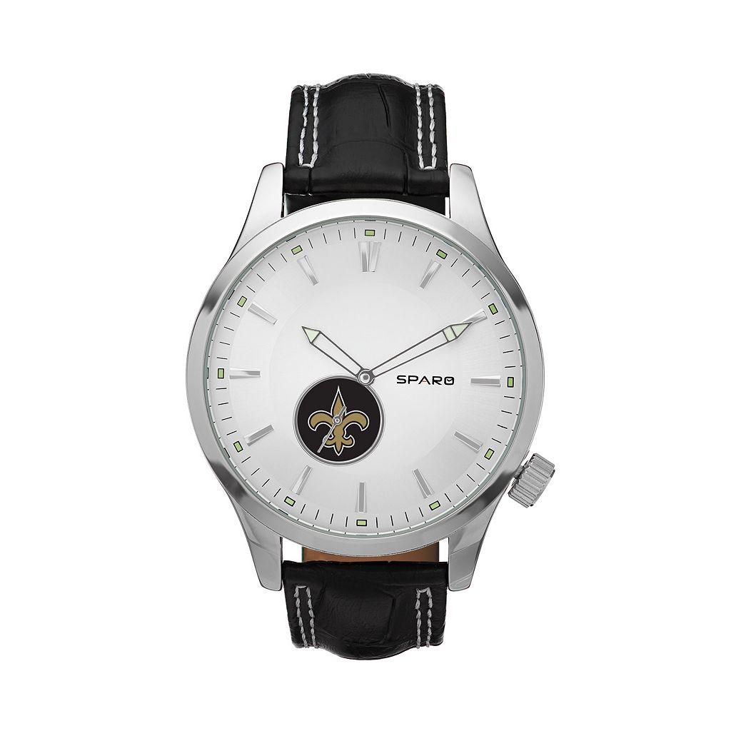 Sparo Watch - Men's Icon New Orleans Saints Leather