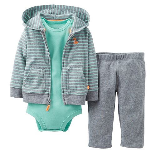 Carter's 3-pc. Fox Hoodie Set - Baby
