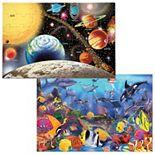 Melissa & Doug 2-pk. Planets & Sea Life Puzzles