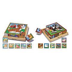 Melissa & Doug 2-pk. Cube Puzzles