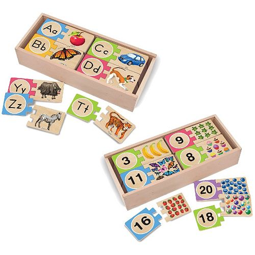 Melissa & Doug 2-pk. Self-Correcting Numbers & Letters Puzzles