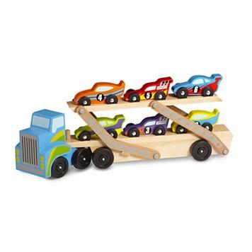 Melissa & Doug Race Car Carrier Truck