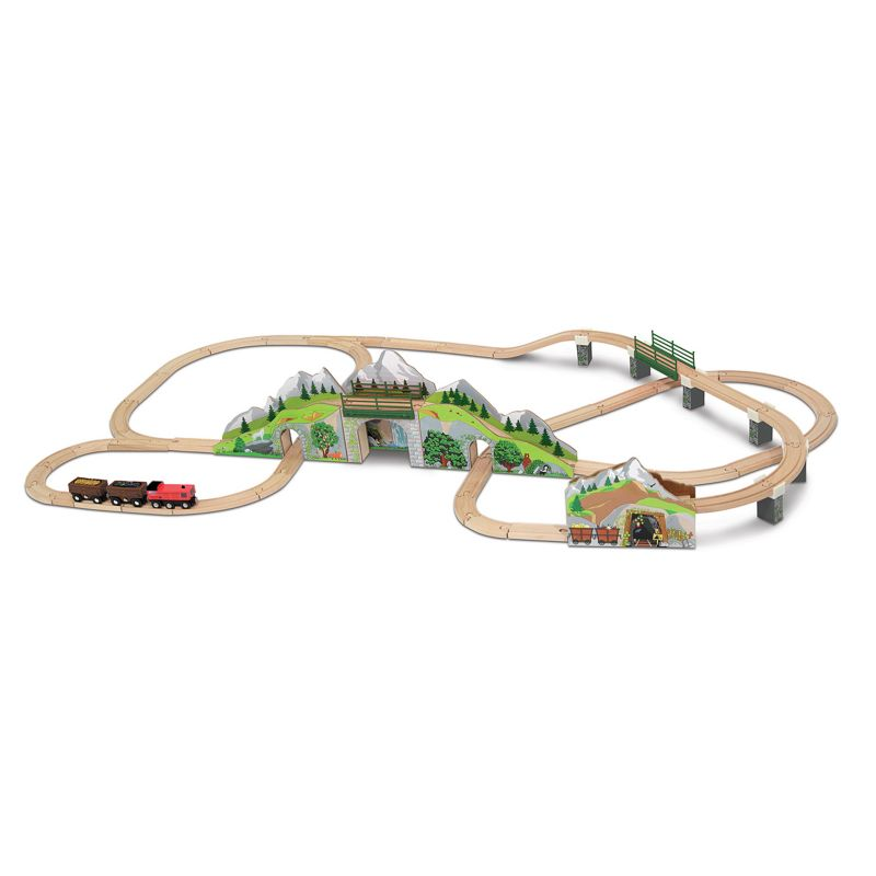 Melissa and Doug Mountain Tunnel Train Set, Multicolor