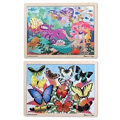 Melissa & Doug 2-pk. Mermaids & Butterflies Puzzles