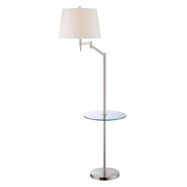 Lite Source Inc. Eveleen End Table Floor Lamp - Polished Steel