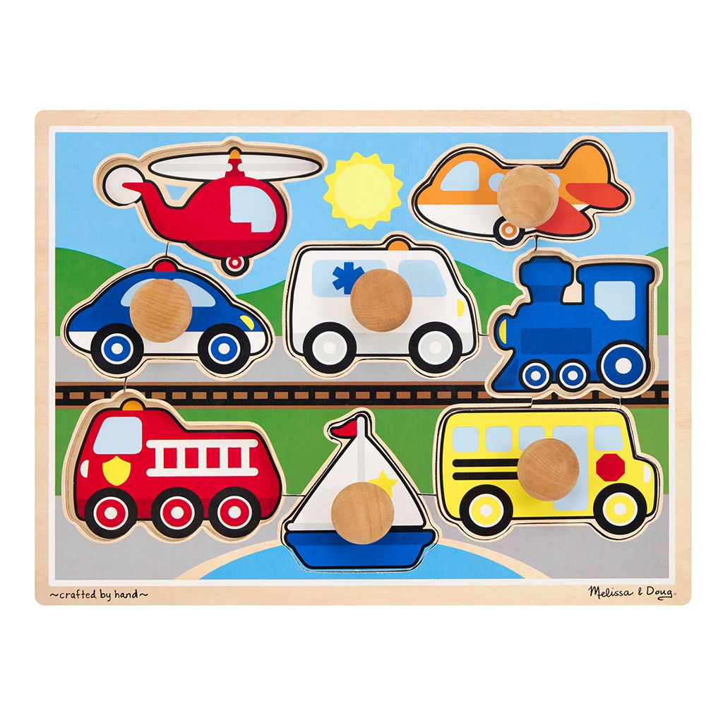 Melissa & Doug Vehicles Jumbo Knob Vehicles Puzzle