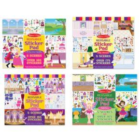 Melissa & Doug Fairy, Princess, Dress-Up & Play House Reusable Sticker Pad Bundle
