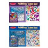"Melissa & Doug Peel & ""Stained Glass"" Rainbow Garden & Undersea Fantasy Press Bundle"