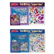 Melissa & Doug Peel & 'Stained Glass' Rainbow Garden & Undersea Fantasy Press Bundle