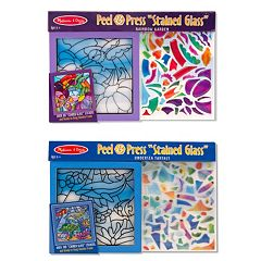 Melissa & Doug Peel & 'Stained Glass' Rainbow Garden & Undersea Fantasy Press Bundle