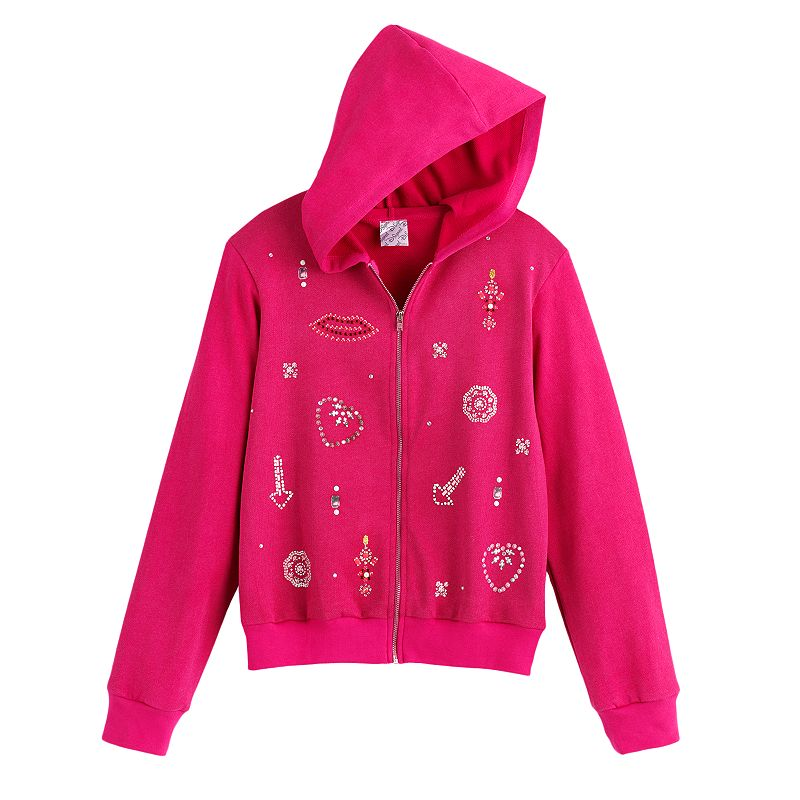 Disney D-Signed Sparkle Embellished Hoodie - Girls, Size: X SMALL (Purple)