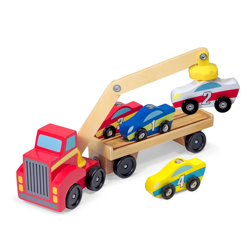 Melissa & Doug Magnetic Car Loader Set