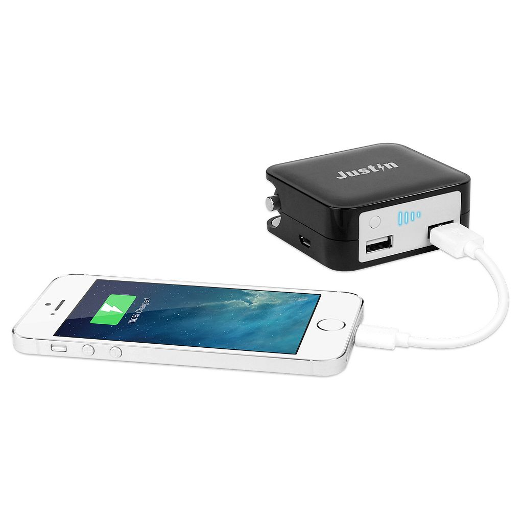 Innovative Technology Justin 2000mAh Portable Power Bank with 12V Adapter