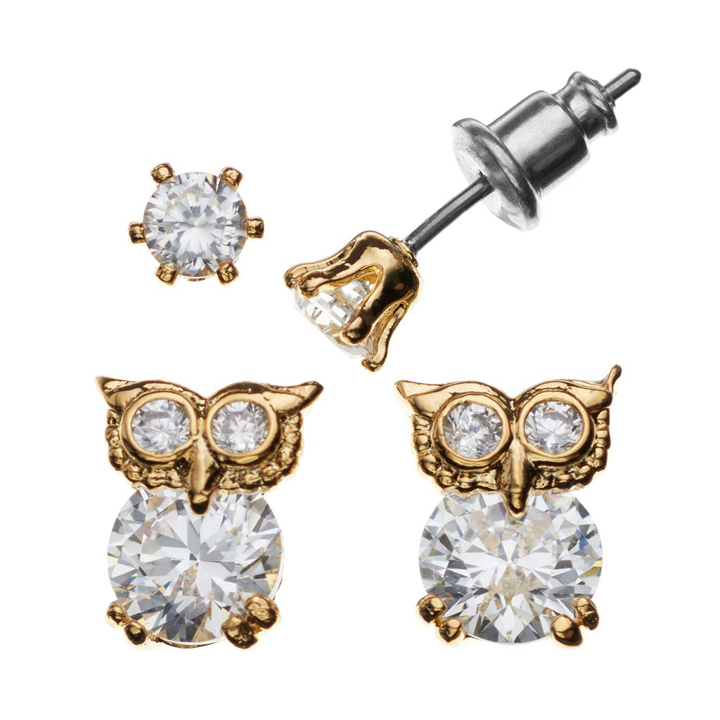 City By City Owl Stud Earring Set