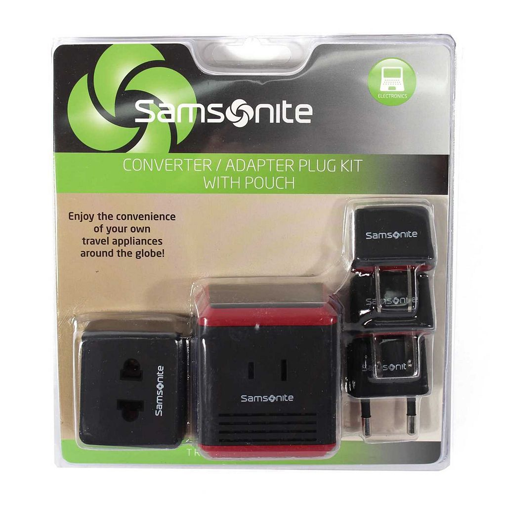 Samsonite Converter & Adapter Plug Set