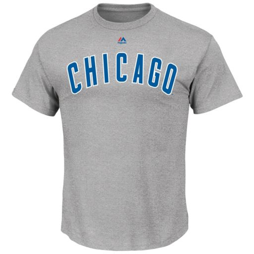 Big & Tall Majestic Chicago Cubs Official Road Wordmark Tee