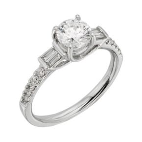 IGL Certified Colorless Diamond Engagement Ring in 18k White Gold (1 1/4 ct. T.W.)