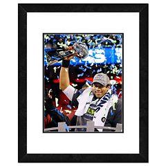Seattle Seahawks Russell Wilson Super Bowl XLVIII Framed 14' x 11' Player Photo