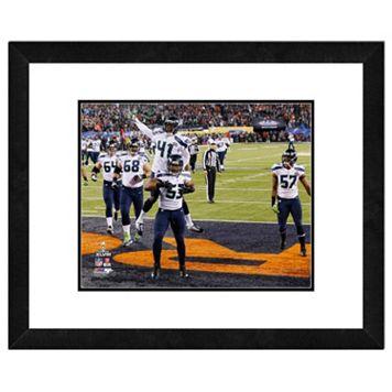 Seattle Seahawks Malcom Smith Super Bowl XLVIII Framed 11